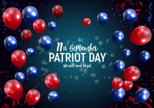 Plano de fundo do pôster do patriot day usa. 11 de setembro