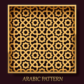 Plano de fundo do quadro padrão árabe, elemento de design do modelo. ilustração vetorial