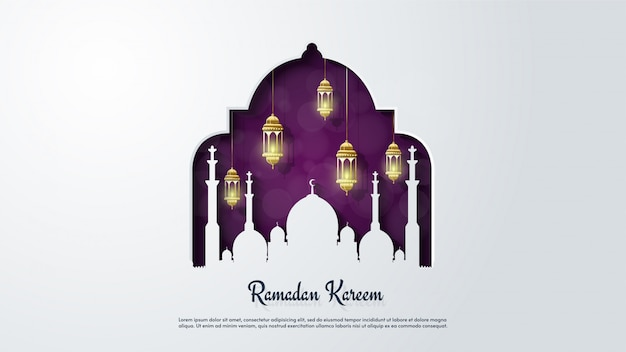 Plano de fundo do ramadã kareem.