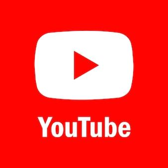 Plano de fundo do youtube. ícone do youtube. ícones de mídia social. logotipo realista. vetor. zaporizhzhia, ucrânia - 10 de maio de 2021