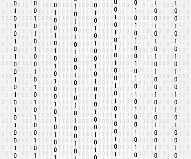 Plano de fundo em estilo matricial. caindo números aleatórios.