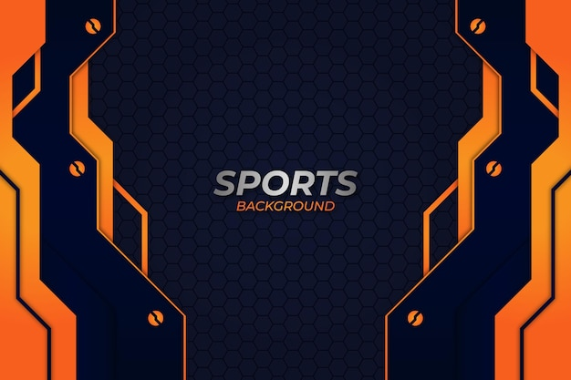 Plano de fundo esportivo estilo azul e laranja