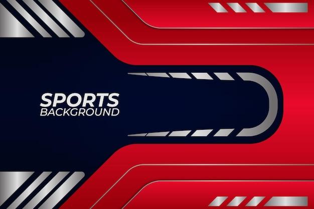 Plano de fundo esportivo estilo azul e vermelho