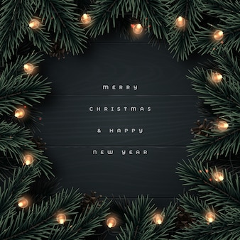 Plano de fundo feliz natal e feliz ano novo.