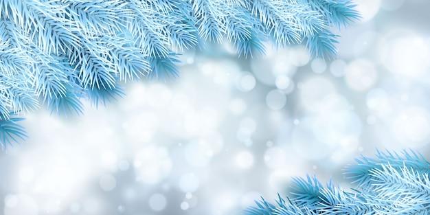 Plano de fundo festivo de natal ou ano novo