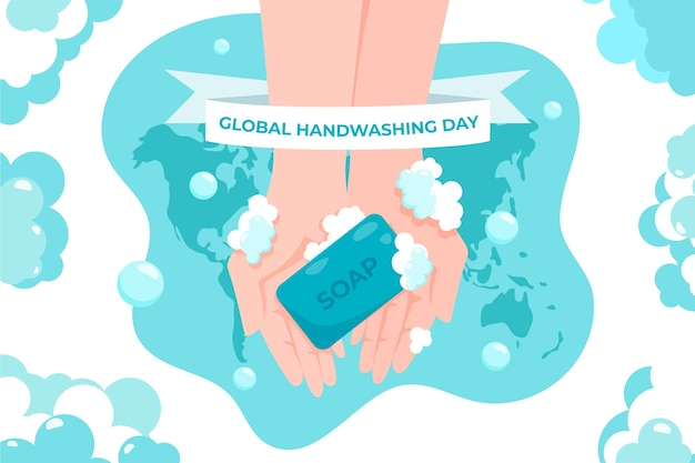Plano de fundo global do dia de lavagem das mãos