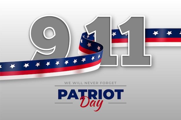 Plano de fundo gradiente 9.11 do dia patriota