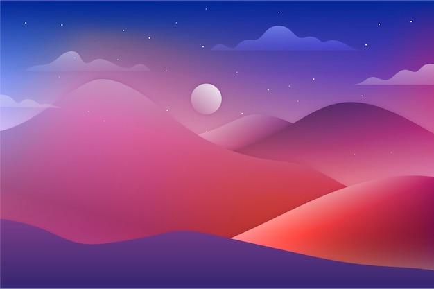Plano de fundo gradiente de paisagem