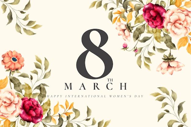 Plano de fundo lindo dia das mulheres florais