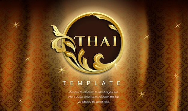 Plano de fundo luxuoso conceito tradicional tailandês as artes de thailan plano de fundo transparente