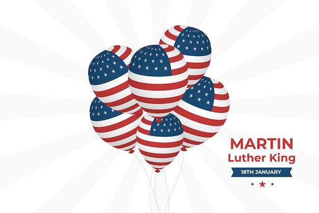 Plano de fundo martin luther king com bandeira da américa