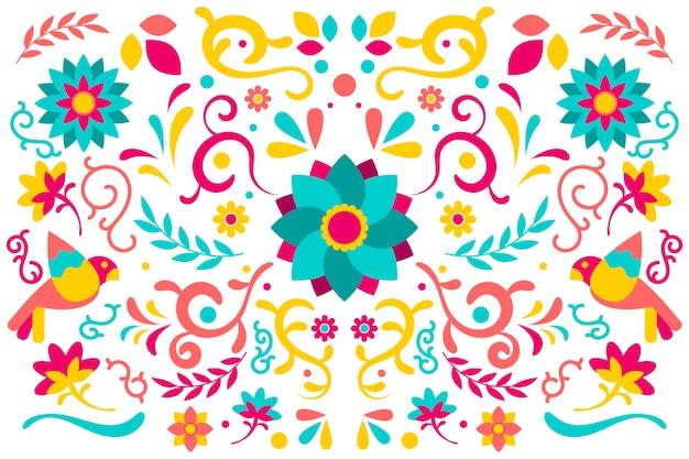 Plano de fundo mexicano colorido