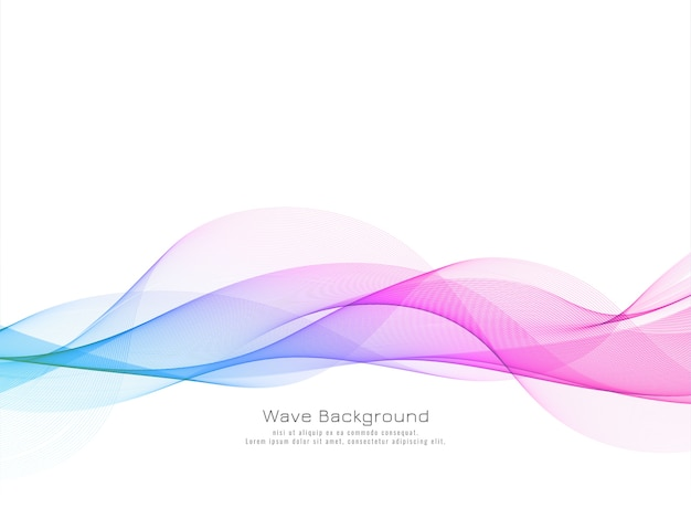 Plano de fundo moderno de onda colorida