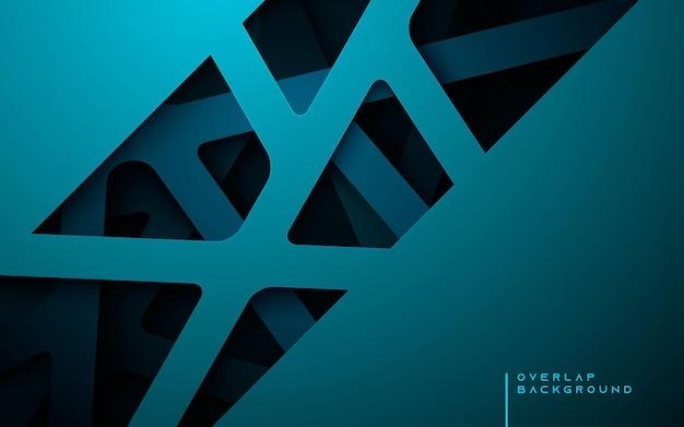 Plano de fundo multi-dimensão com gradiente azul luxuoso