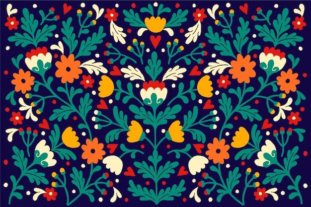 Plano de fundo multicolorido mexicano