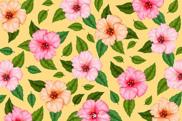 Plano de fundo padrão de flor tropical