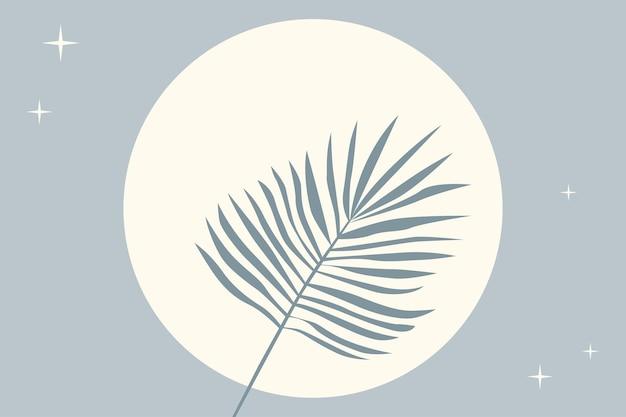 Plano de fundo padrão de planta de folha tropical. ilustração de cor azul
