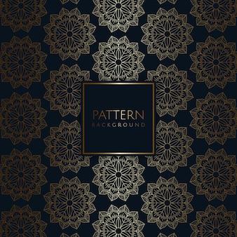Plano de fundo padrão elegante com desenho decorativo de mandala
