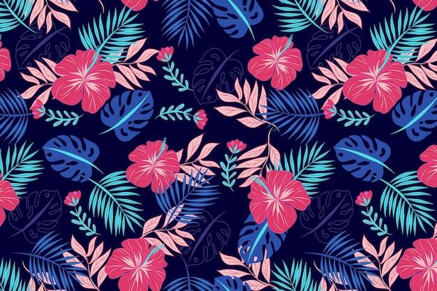 Plano de fundo padrão floral bonito