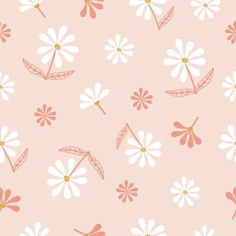 Plano de fundo padrão floral fofo sem emenda