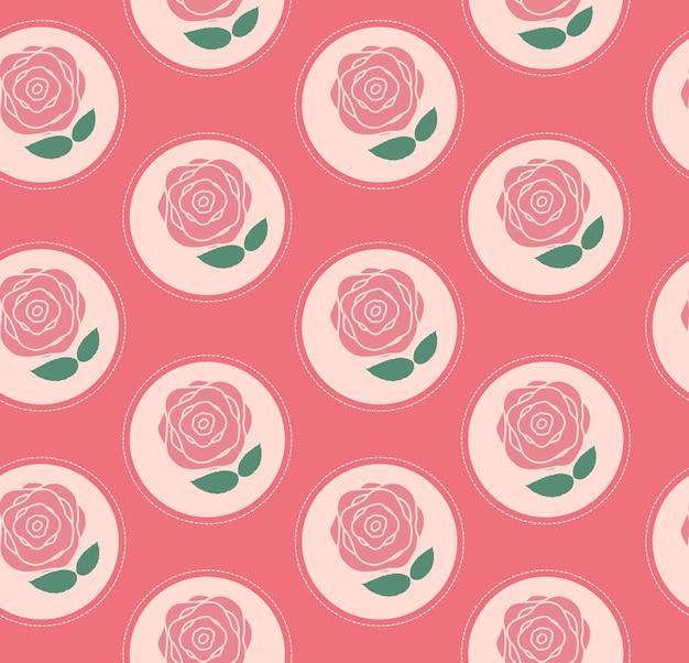 Plano de fundo padrão floral sem costura para casamento e aniversário. ilustração vetorial