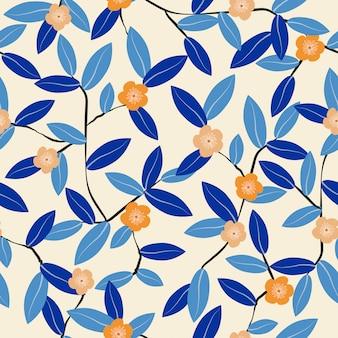 Plano de fundo padrão floral vintage fofo sem emenda