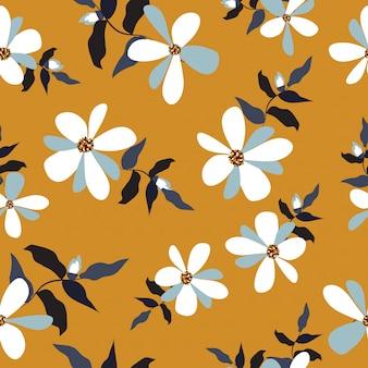 Plano de fundo padrão floral vintage sem emenda
