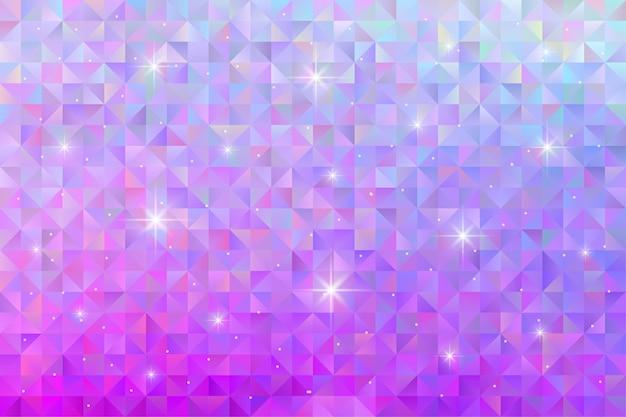 Plano de fundo padrão geométrico com luz das estrelas piscando. papel de parede poligonal