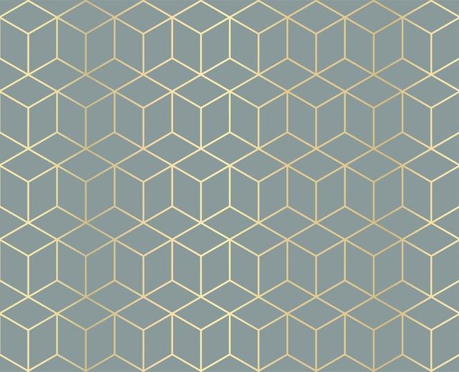Plano de fundo padrão geométrico dourado