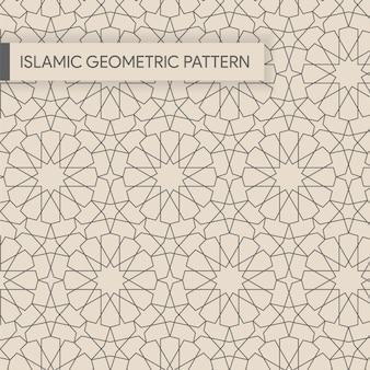 Plano de fundo padrão geométrico islâmico sem emenda