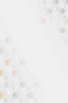 Plano de fundo padrão redondo sem costura branco e dourado