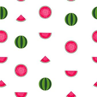 Plano de fundo padrão sem emenda com melancia. ilustração vetorial. eps10