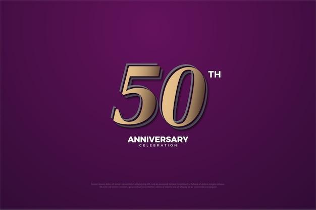 Plano de fundo para a celebração do cinquenta aniversário