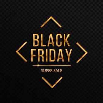 Plano de fundo para a grande promoção da black friday com confetes dourados. grandes descontos em promoção