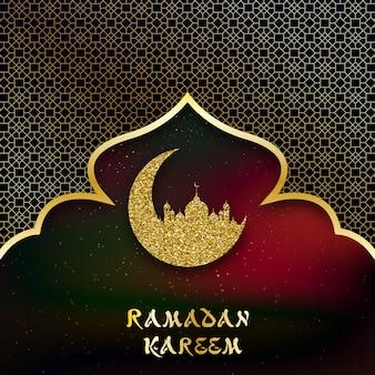 Plano de fundo para as saudações ramadan kareem.