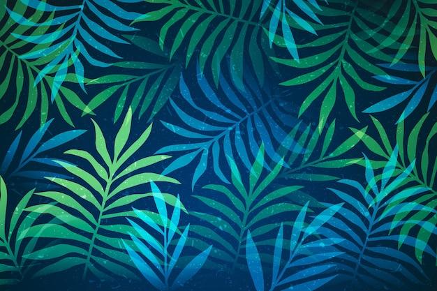 Plano de fundo para folhas tropicais zoom