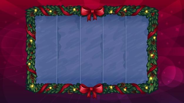 Plano de fundo para o jogo de slot de natal. ilustração