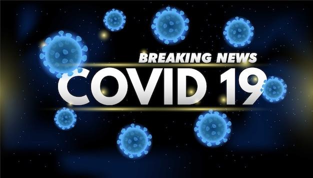 Plano de fundo para transmissão televisiva sobre surtos de coronavírus