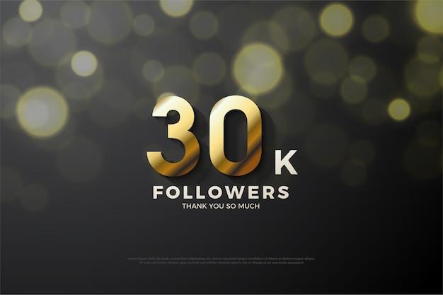 Plano de fundo para trinta mil seguidores