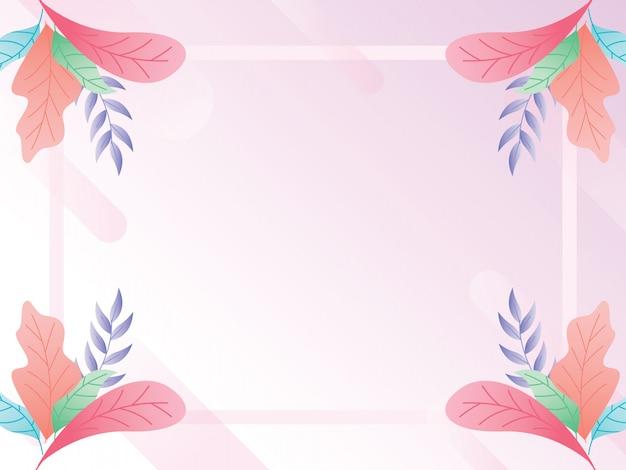 Plano de fundo para um cartão com uma variedade de folhas bonitas