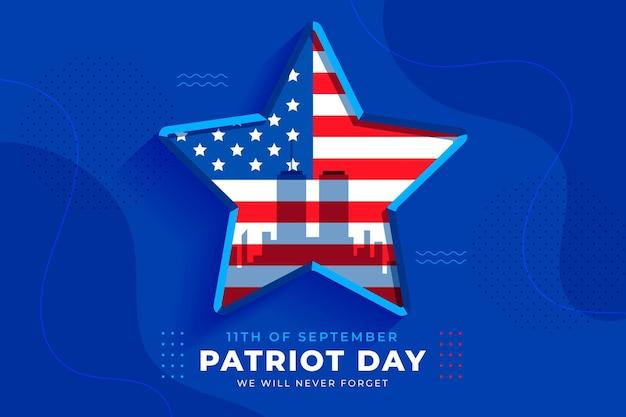 Plano de fundo plano 9.11 do dia patriota