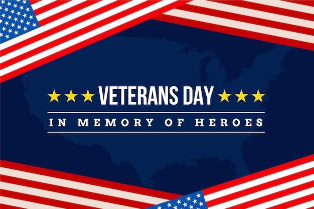 Plano de fundo plano do dia do veterano