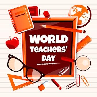 Plano de fundo plano do dia dos professores