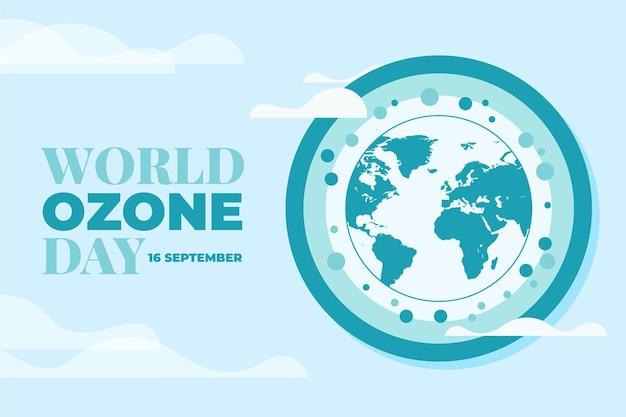 Plano de fundo plano do dia mundial do ozônio