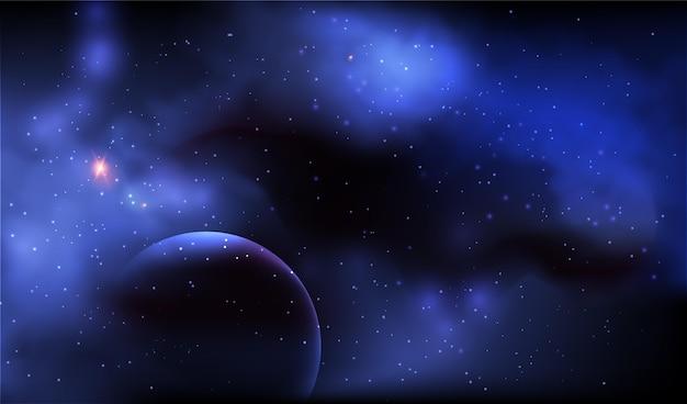 Plano de fundo realista da galáxia