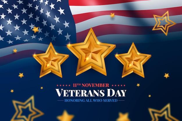 Plano de fundo realista do dia do veterano