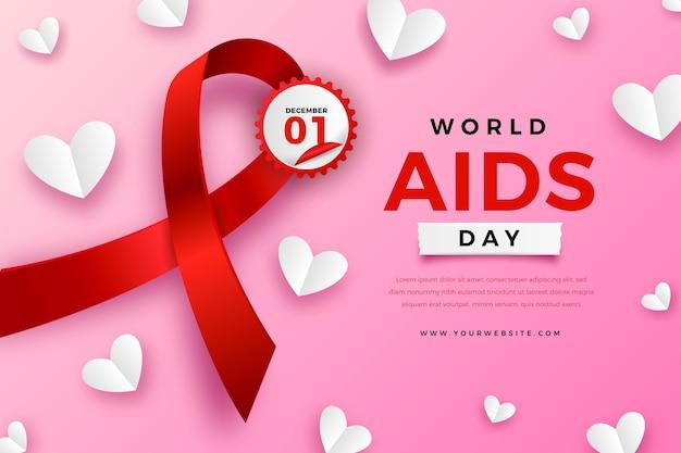 Plano de fundo realista do dia mundial da aids