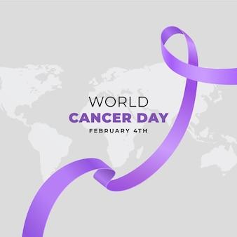 Plano de fundo realista do dia mundial do câncer