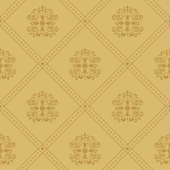 Plano de fundo régio vitoriano. padrão em estilo vintage barroco,