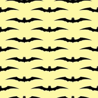Plano de fundo sem emenda de halloween com morcegos. ilustração vetorial